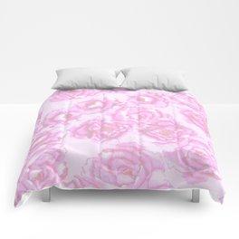 Watercolor Peonies in Pink Comforters