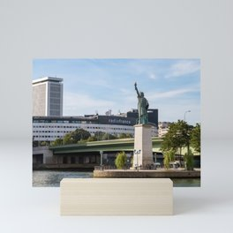 Statue of Liberty replica in Paris Mini Art Print