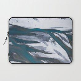Melting Glacier Water Flowing Through The Landscape Laptop Sleeve