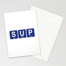 Stand Up Paddleboarding Periodic Table Stationery Cards
