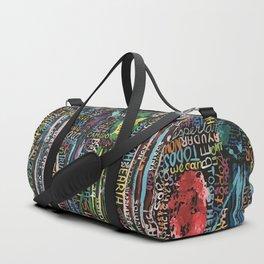 Awakening, people and words Duffle Bag