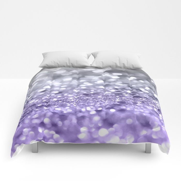Purple Gray MERMAID Girls Glitter #1 #shiny #decor #art #society6 Comforters