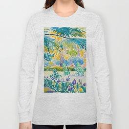 Henri-Edmond Cross Neo-Impressionism Pointillism Garden of the Painter at Saint Clair 1908 Long Sleeve T-shirt