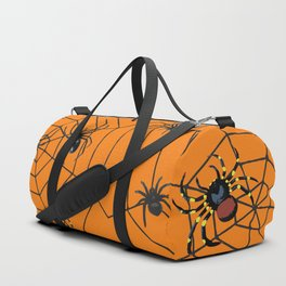 big Spiders in two cobweb Duffle Bag
