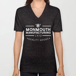 monmouth manufacturing white Unisex V-Neck