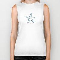 starfish Biker Tanks featuring Starfish by Josè Sala