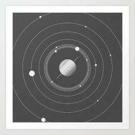 Rings of Saturn Art Print