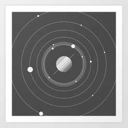 Rings of Saturn Art Print