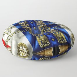 Vintage 18th Regiment French Battle Flag of Napoleon III Floor Pillow