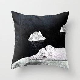 Sleeping Polar Bear Throw Pillow
