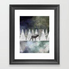 Bull Elk Framed Art Print