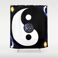 namaste Shower Curtains featuring Namaste by PlanetaryDreamz