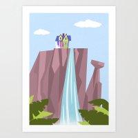 pixar Art Prints featuring Pixar/Disney Up (Print 1) by Teacuppiranha