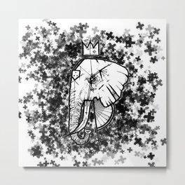 Babar the Elephant King Metal Print