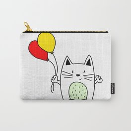 Cat with balloons Carry-All Pouch