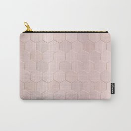 Rose Gold Honeycomb Carry-All Pouch