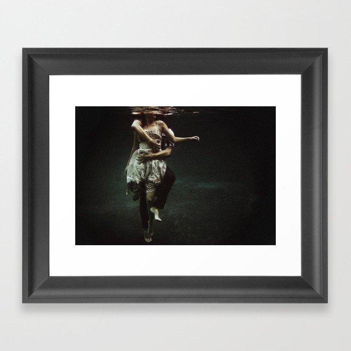 abyss of the disheartened : V Framed Art Print