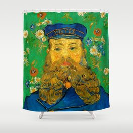 "Vincent van Gogh ""Portrait of Joseph Roulin"" Shower Curtain"