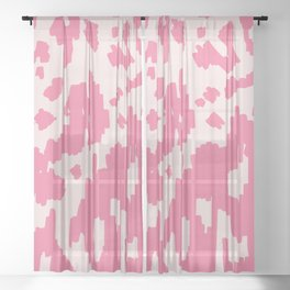 Modern Abstract Ikat pink #homedecor Sheer Curtain