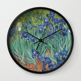 Vincent van Gogh's Irises Wall Clock