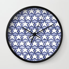Dark Indigo Stars Wall Clock