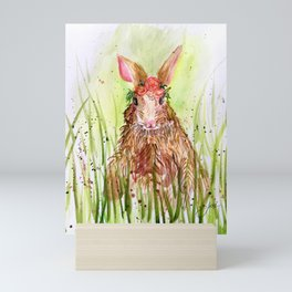 Rosie Rabbit Mini Art Print