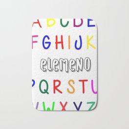 Funny Alphabet Kids Elemeno A to Z Teacher Bath Mat