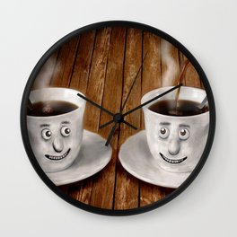 Hot Coffee Time in the Kitchen Wall Clock