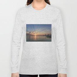 Sunbeams at Annisquam lighthouse #2 Long Sleeve T-shirt
