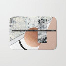 Collage II ( marble, copper, volcanic rock) Bath Mat