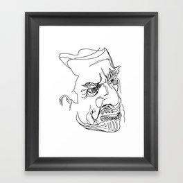 Man in Line Framed Art Print
