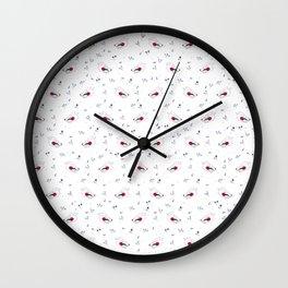 wolf gang pattern Wall Clock