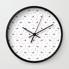 wolf gang pattern Wall Clock