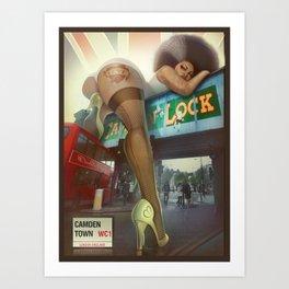 Ass over Camden lock Art Print