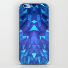 Deep Blue Collosal Low Poly Triangle Pattern -  Modern Abstract Cubism  Design iPhone Skin