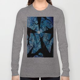 Looking up at Midnight Trees Long Sleeve T-shirt