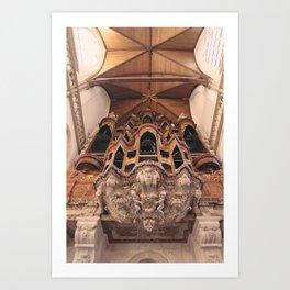 Grand Organ, Oude Kerk Art Print