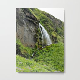 Icelandic Waterfall Metal Print
