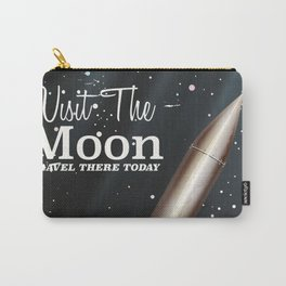 visit the moon vintage science fiction poster Carry-All Pouch