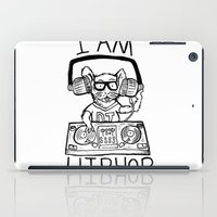 hiphop iPad Cases featuring I AM HIPHOP  by Geryes