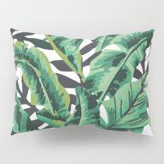 Tropical Glam Banana Leaf Print Pillow Sham
