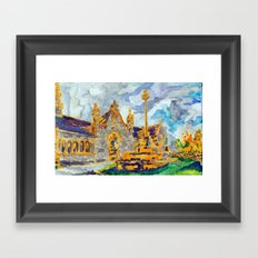 with a cat's company Framed Art Print