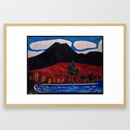 Mt. Katahdin (Maine), Autumn #2 , Marsden Hartley Framed Art Print