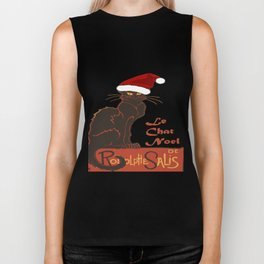 Le Chat Noel Christmas Vector Biker Tank