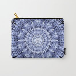 Grunge blue snowflake in a circle Carry-All Pouch