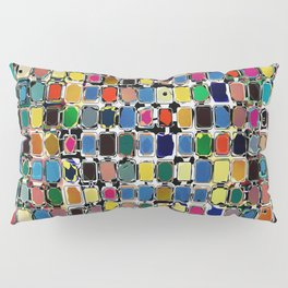 Colorful Rectangles With Texture Pillow Sham