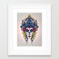 dia de los muertos Framed Art Prints featuring Dia de los Muertos by merci