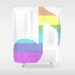 Quaver - The eighth note Shower Curtain