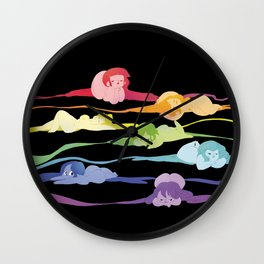 Rainbow Pin-ups 01  Wall Clock