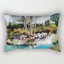 Flamingo Lagoon Rectangular Pillow
